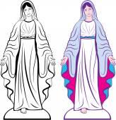 Holy Virgin Godmother vector — Stock Vector