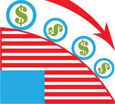 Dollar Roll — Stock Vector