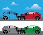 вектор автокатастрофы — Cтоковый вектор