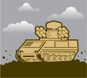 Air Defense Weapon — Stock Vector