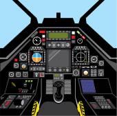 Fighter Jet Cockpit — Stock Vector