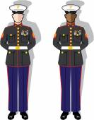 Marines — Stock Vector