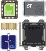 Computer Elements — Stock Vector