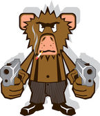 Gangsta Monkey — Stock Vector