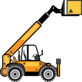 Construction Forklift — Stock Vector