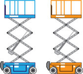 Warehouse lift vector — Stock Vector