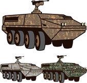Personnel carrier Camo vector — Stock Vector