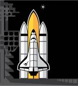 Space shuttle — Stock Vector