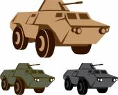 APC armored personnel carrier — Stock Vector
