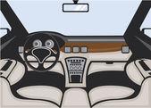 Auto interior vector — Stock Vector