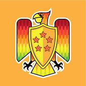 Firebird Shield logo vector — Stock Vector