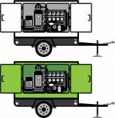 Generator trailer vector — Stock Vector