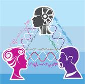 Brainwave connection — Stock Vector