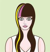 Girl with big eyes — Stock Vector