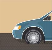 Flat tire Color Vector — Stock Vector