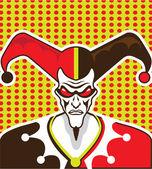 Mad Clown — Stock Vector