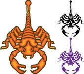 Scorpion Front vector — Stock vektor