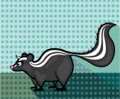 Skunk Cartoon vector — Stock Vector