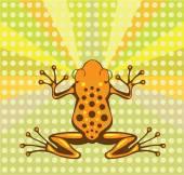 Toxic Frog vector — Stock Vector