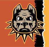 Mad Dog pop art vector — Stock Vector