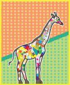 Unique Giraffe — Stock Vector