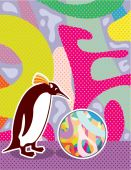 Abstract Artsy Pinguin — Wektor stockowy