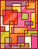 Abstract Squares Pop Art — Stock Vector