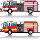 Firetruck Vector — Stock Vector