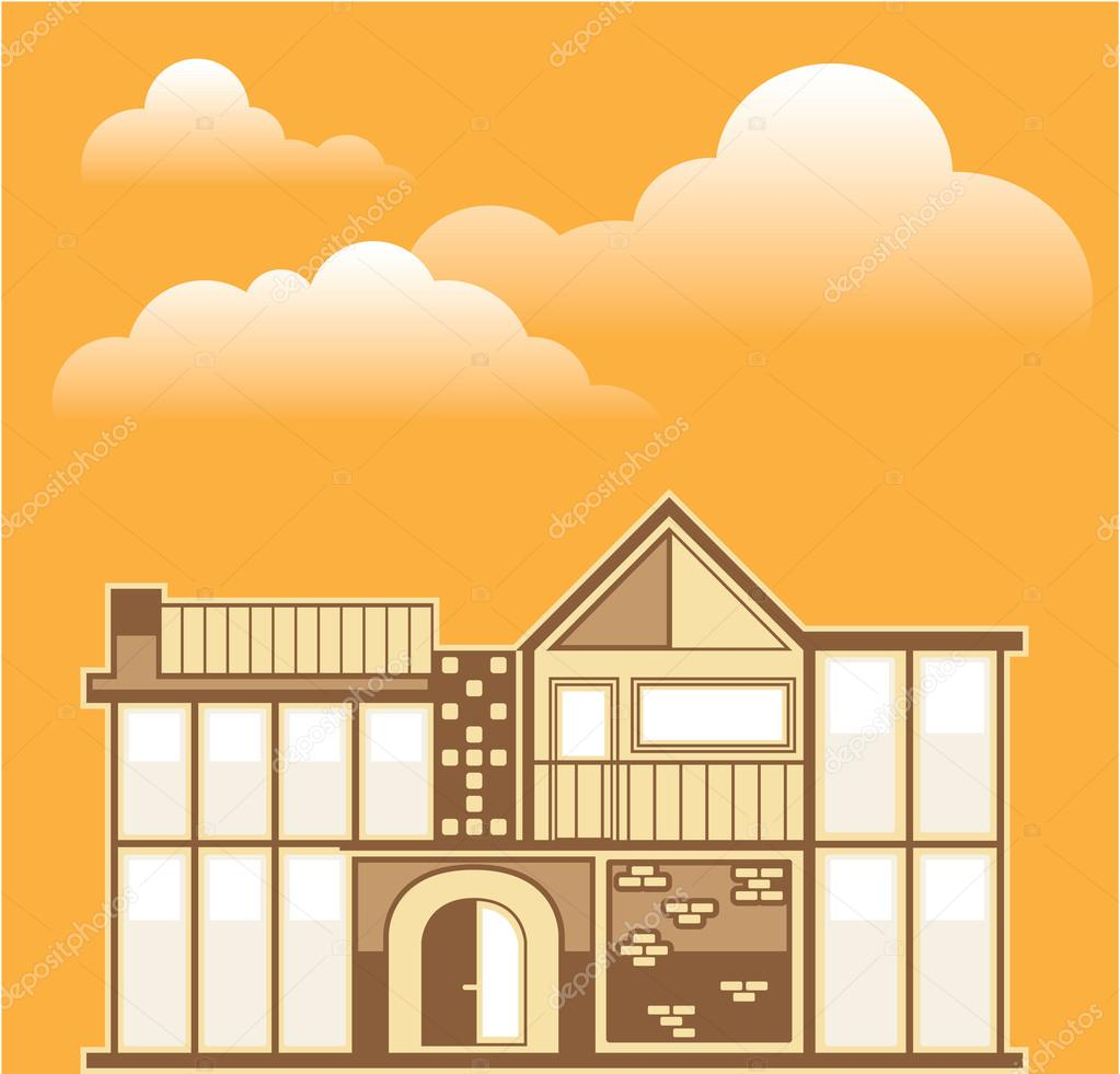Modern house vector simplistic — Stock Vector © anton_novik #62022737 - ^