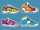 Sneakers pop art vector — Stock Vector