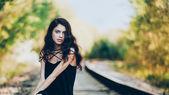 Railroad beauty — Stock Photo