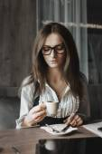 Business mood and coffee — Stock Photo