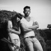 Countryside couple portrait — Stock Photo