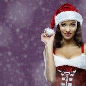 Santa meisje — Stockfoto