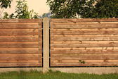 Wooden fence close up — Stock Photo