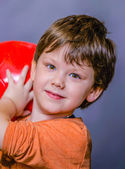 A little boy with ball — Stockfoto