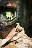 Direct hit (paintball game) — Stock Photo