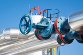 Valves at gas plant — Stock Photo