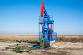 Oil industry pump jack close up — Stock Photo