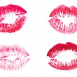 Red lipstick kiss isolated on white background — Stock Photo #62952501