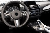 Modern car interior — Stock Photo