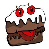 A cheeky slice of cake — Stockvector