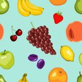 Seamless Fruity Pattern — Stock Vector
