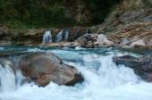 The Three Brothers falls in the mountains of Adygea. — 图库照片