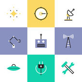 Robotics and science  icons — Stock Vector