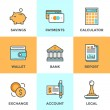 Finance and money  icons set — Stock Vector #64998831