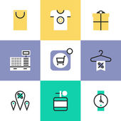 Shopping and retail  icons set — Stock Vector