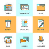 Office things  icons set — Stock Vector