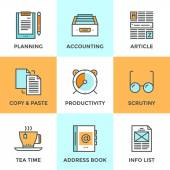 Paperwork in office  icons set — Vetor de Stock