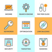 SEO and web optimization  icons — Stock Vector
